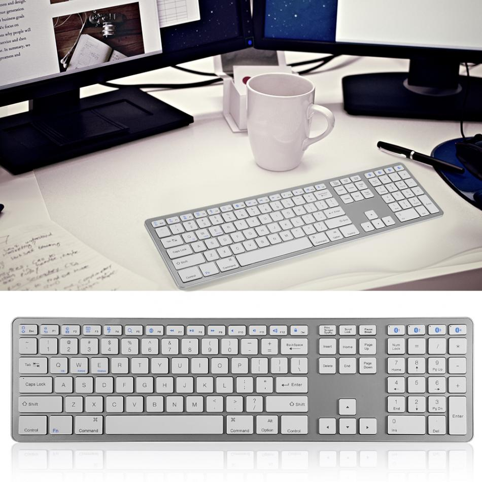 Image 5 - Universal Multi Pairing Wireless Bluetooth Keyboard 104 Keys for PC/ Laptop/ Tablet-in Keyboards from Computer & Office