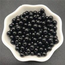 Imitação de pérolas preto acrílico, 4mm 6mm 8mm 10mm, espaçador de pérolas redondo, contas soltas para jóias fazer