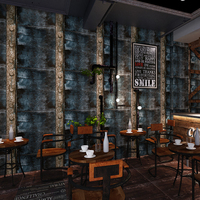 Retro Nostalgic Industrial Wind Metal Iron Sheet Wallpaper For Walls 3D Background Wall Decor Bar Cafe
