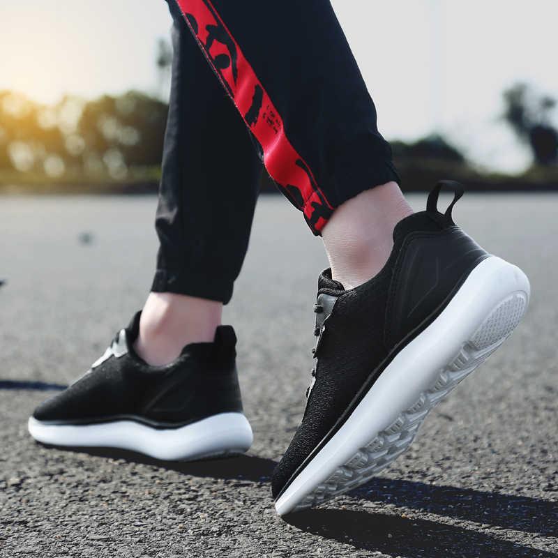 2019 รองเท้าวิ่งชายรองเท้า Breathable ผู้ชายแบนสบายรองเท้าแฟชั่นรองเท้าผ้าใบชาย Zapatos De Hombre รองเท้าผู้ชายขนาด 39 -48