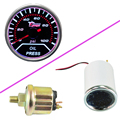 "EE support  Car Motor Universal Smoke Len 2"" 52mm Indicator Oil Press Pressure Gauge Meter XY01"