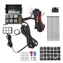 6 Gang Switch Panel Electronic Relay System Circuit Control Box Waterproof Fuse Relay Box Wiring Harness Assemblies DC12V For Ca the electronic switch touch switch control soft switch relay bistable circuit hard switch