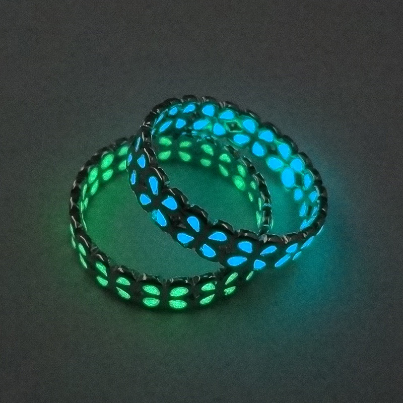 Retro Glow In The Dark Mood Rings Jewelry For Women Night Light Glowing Stone Fluorescent Finger Rings Black Friday