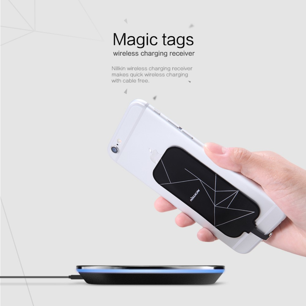 Universal Qi Wireless Charger Receiver Charging Nillkin Magic Tags Coil Micro USB / Type C Adapter For iphone 7 5S SE 6 6S Plus mobile phone