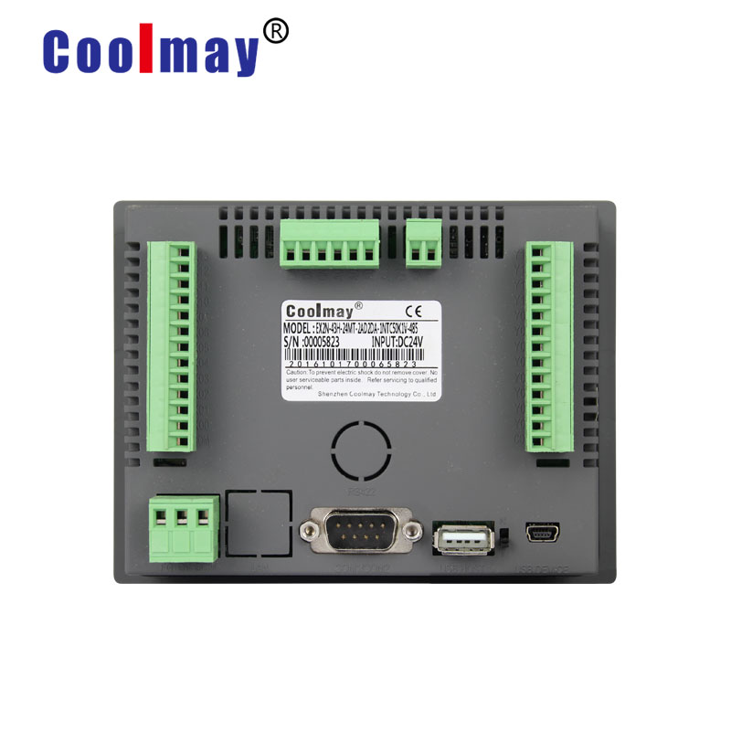 Coolmay MX2N-70HB-24MR-485H 7 Inch Color Touchscreen 12 Relay Outputs Rs485 Hmi Plc Integrated For Automation Control