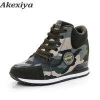 Akexiya Ladies Girls women sneakers 2018 new net Breathable Camouflage sneakers Training shoes running shoes for women air