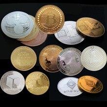 Позолоченная Виртуальная металлическая памятная монета биткоины сувенир искусство коллекционный бизнес подарок праздничное украшение подарок античный Im