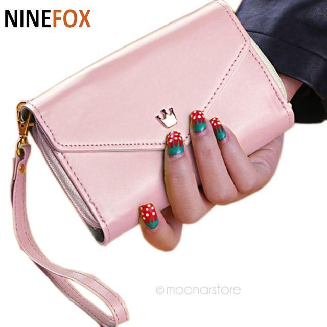 2017 women handbag luxury handbags bags designer wallet Coin Case purse for iphone 4/5 carteira card holder portafogli donn