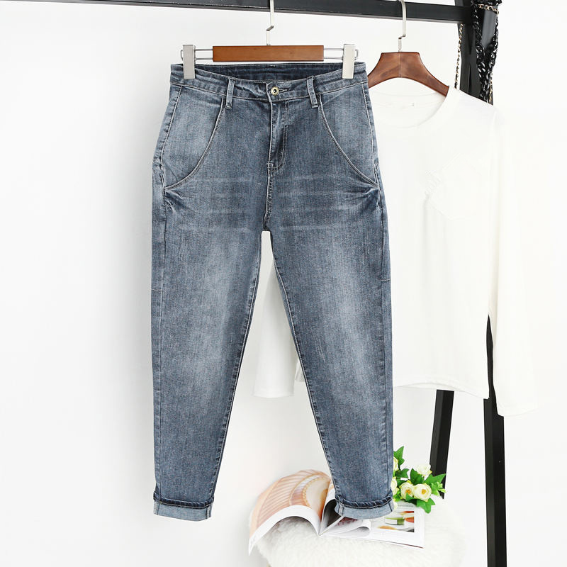 5XL Jeans Women With High Waist Harem Pants Casual Boyfriend Jeans Female Streetwear Vintage Plus Size Mom Jeans For Women Q1286