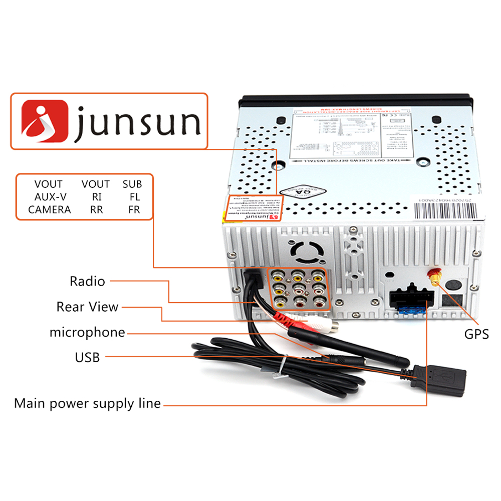 Junsun 6 2 Universal Car DVD Player Radio GPS Navigator Double Din Bluetooth Touch Screen Car car dvd wiring diagram dolgular com  at bayanpartner.co