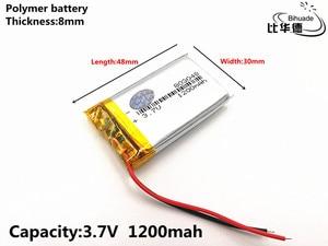 Image 3 - 2 sztuk/partia dobrej jakości 3.7 V, 1200 mAH, 803048, polimerowa bateria litowo jonowa/akumulator litowo jonowy do TOY, POWER BANK, GPS, mp3, mp4