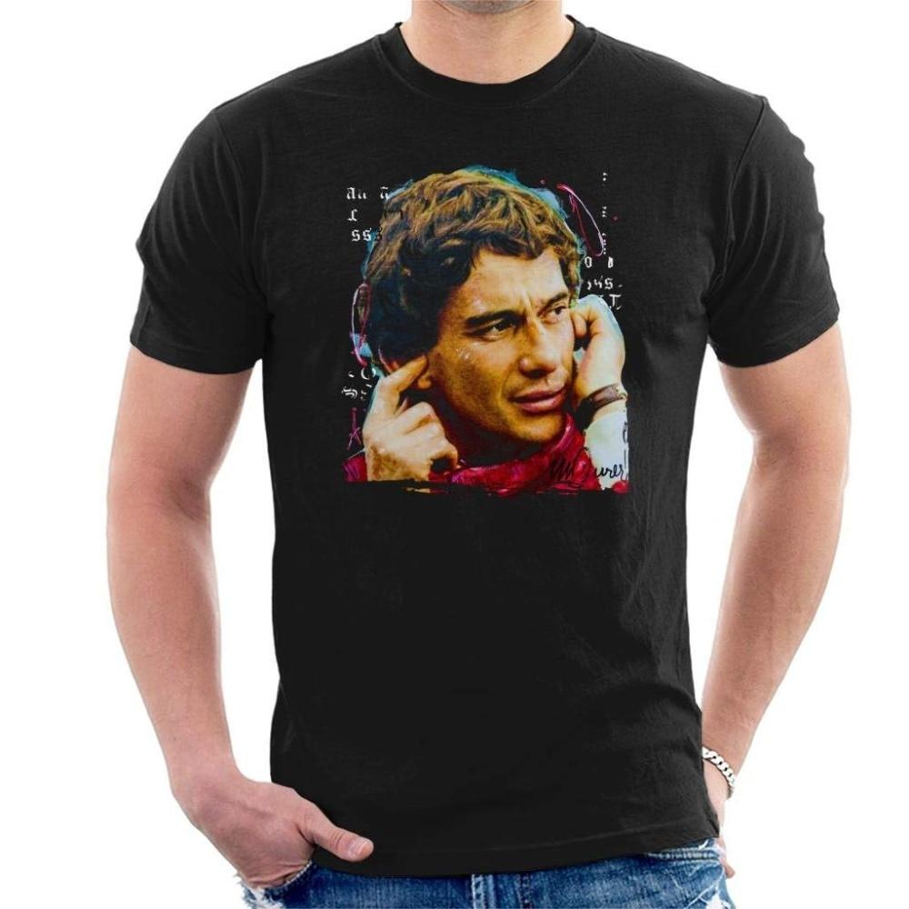 summer-2019-short-sleeve-plus-size-original-portrait-of-ayrton-font-b-senna-b-font-1991-men's-t-shirt-funny-shirts