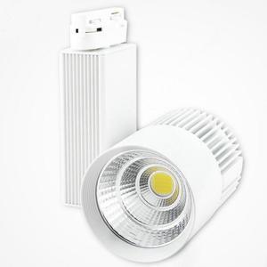 40W 2 tel 3 telli 4 telli COB LED ray lambası alüminyum tavan raylı hüzme aydınlatma Spot ray Spot yerine halojen lambalar