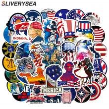 100 Uds. Bandera estadounidense de los Estados Unidos, paquete de pegatinas y calcomanías para coches, monopatín para ordenador portátil, motocicleta, coche, parachoques, equipaje