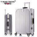 2017New Retro Aluminum Frame PC Shell Travel Suitcase Trolley Bags, Cabin Rolling Luggage valise bagages roulettes With TSA Lock