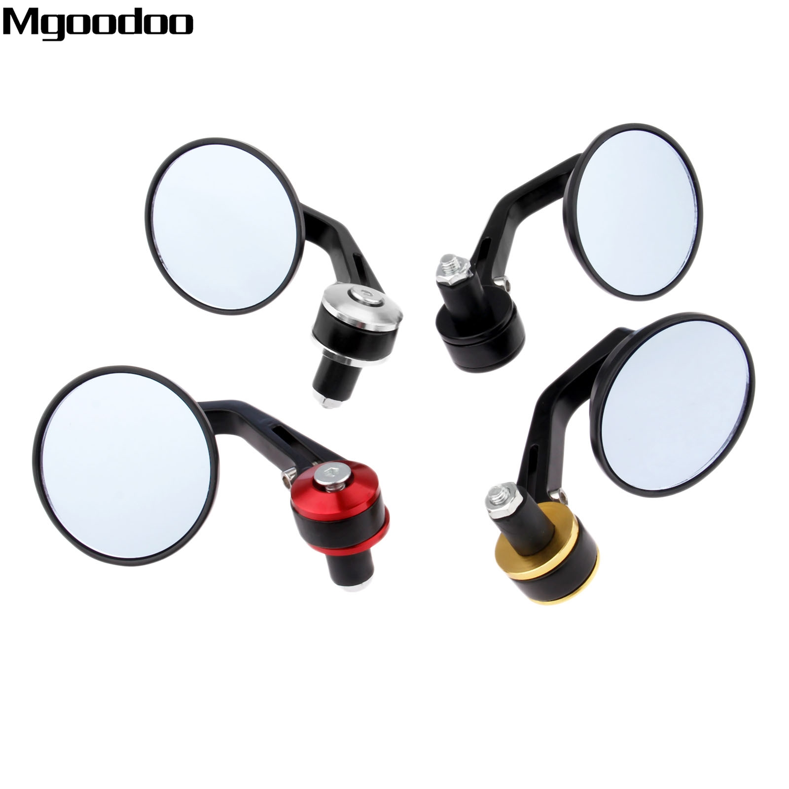 "Universal Left Right ATV Rear View Mirror 7//8/"" M8 Handlebar Mirror Mount Set Kit"