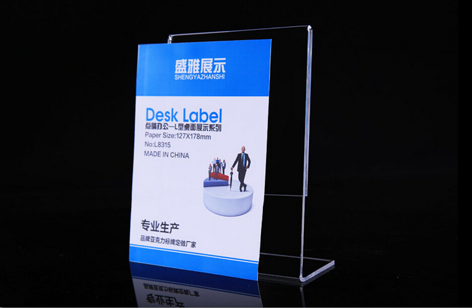 US $65 16 5% OFF|100*150MM acrylic desk table tablet stands sign holder  banner name card stand acrylic price list label menu holder-in Frame from  Home
