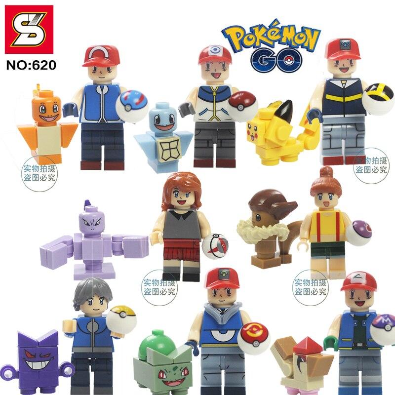 <font><b>poke</b></font> Go <font><b>Figures</b></font> <font><b>action</b></font> <font><b>figures</b></font> Anime Building Blocks <font><b>Toy</b></font> <font><b>Pikachu</b></font> Charmander Squirtle Bricks Kids Gift Pocket <font><b>Monsters</b></font>