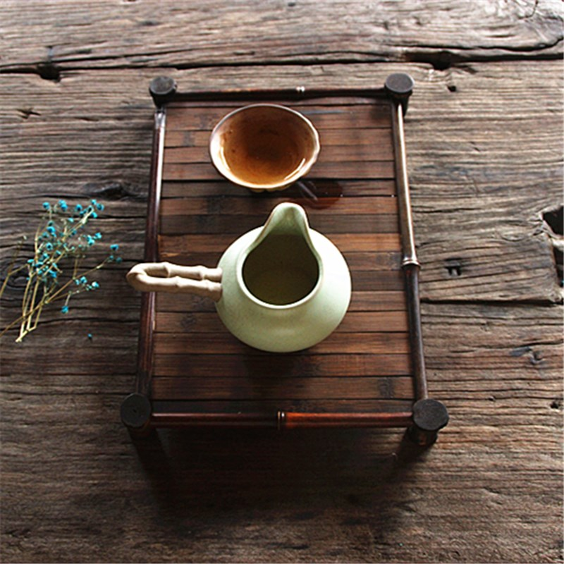 Zizhu bamboo tea table Cup holders Kung Fu Tea tray vintage handmade wooden saucer rack tea set Accessories Affordable tea tray