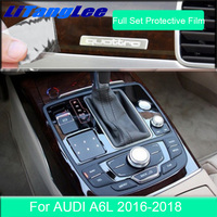 Litanglee For Audi A6L2012 2018 Central Console Prevent Scratch TPU Transparent Protective Stickers Interior Refit Car