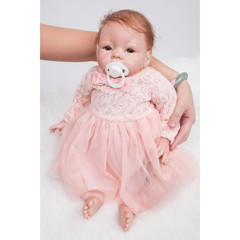 50cm Soft Silicone Reborn Babies Doll Lifelike Lovely Princess Newborn Girl Babies Doll Bebe Reborn Birthday Gift Present To Boy 50cm soft silicone reborn boys babies doll lifelike lovely newborn baby doll bebe reborn birthday gift present to child play ho