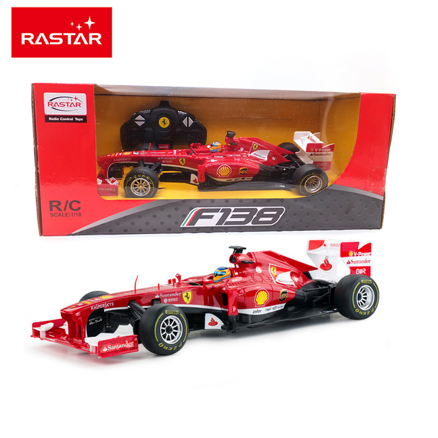 Licensed Rastar 1:18 Remote Control Car RC Car Radio Controlled Machines Remote Control Toys Kids Gifts Toys For Boys F1 53800
