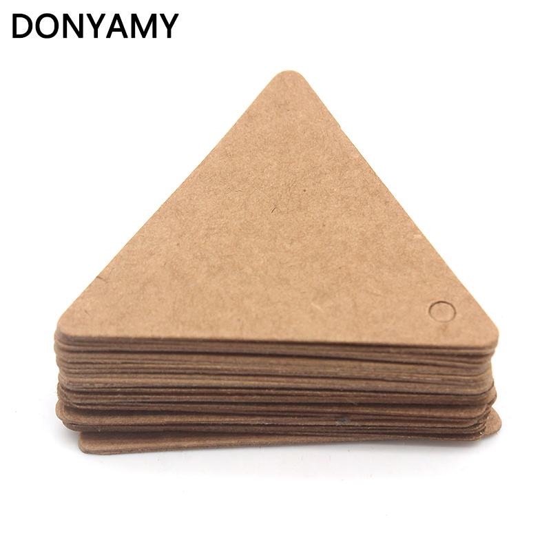 DONYAMY 50PCS 5cm Mini Label Paper Tag Gift Hang Card Price Blank Karft Luggage Wedding Party
