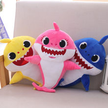 Very good Cartoon Sharks soft Dolls Toys for Girl Children Baby Animal Kid Toys Cute Gift Elastic Environmentally PU brinquedos(China)