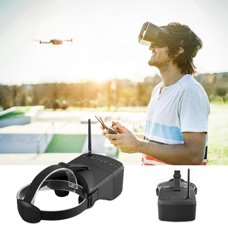 EV800 5 Inches 854x480 FPV Video Goggles Video Glasses 5.8G 40CH Race Band Auto-Searching VR Goggles for RC Cars Racing Games in stock new arrival eachine ev800 5 inches 800x480 fpv goggles 5 8g 40ch raceband auto searching build in battery