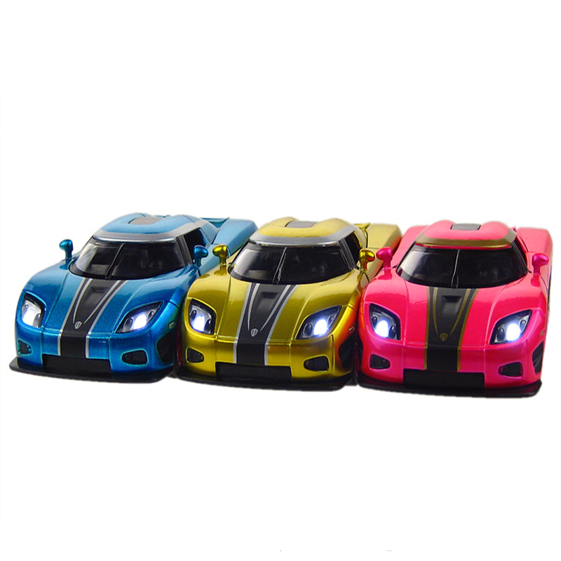 Supercar Model Cars Metal Hot Wheels Toys Back Force Music
