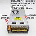 Input AC 110 v 220 v Verstelbare DC spanning stabilisatie Digitale schakelende voeding 0-48 v 10A 480 w