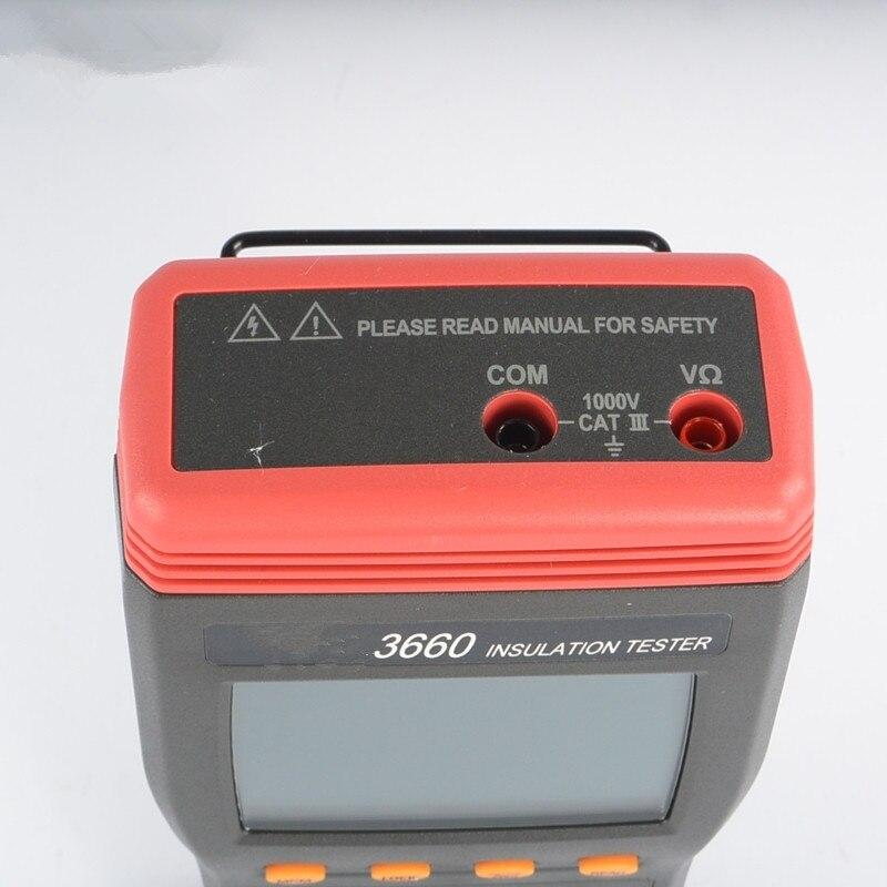 Профессиональный высококачественный автоматический измеритель сопротивления изоляции Портативный Измеритель сопротивления автоматически переключается на измерение напряжения
