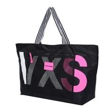 Large Capacity Shoulder Bag Letters Contrast Color Black Handbag Women Japanese and south Korean style Leisure or Travel Bag все цены
