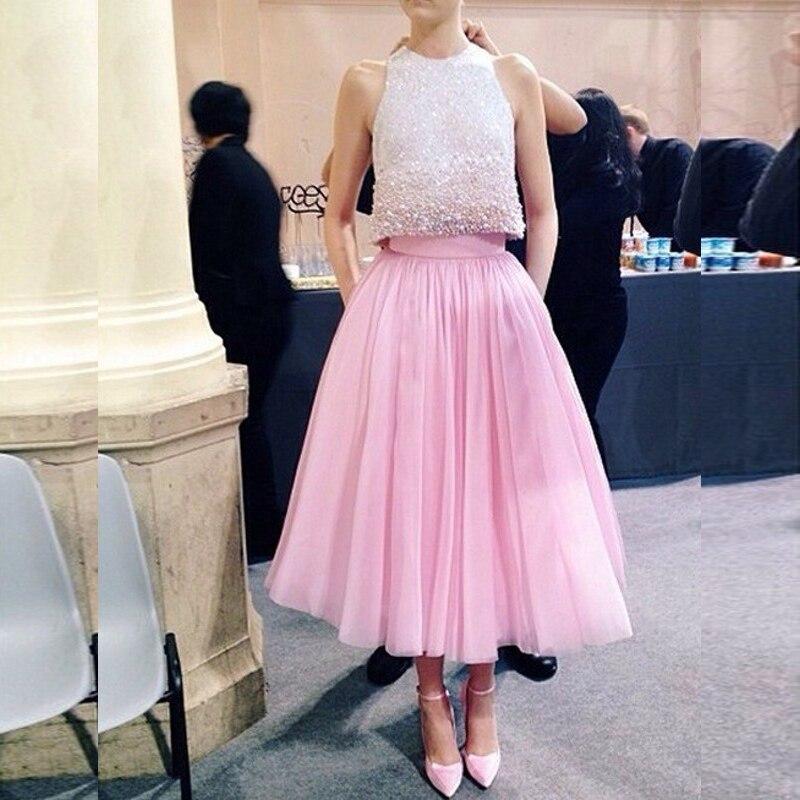 Aliexpress.com : Buy Pink Princess Tulle Skirt Bouffant Puffy ...