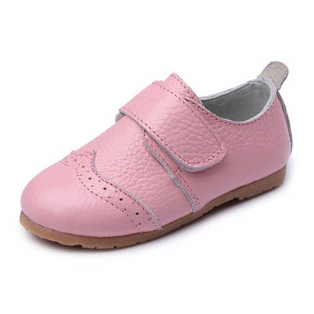 2017 Spring Fretwork Genuine Leather Toddler Casual Shoes Hook&Loop Leather Baby First Walkers Cow muscle Infant Girls Shoes