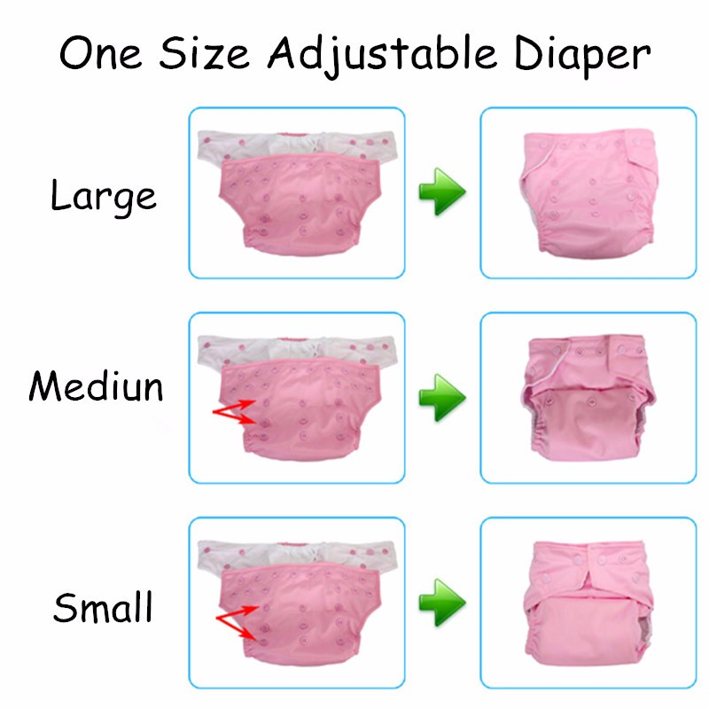 [Mumsbest] 10Pcs Baby Reusable Cloth Diapers Washable Nappies One Size Many Colors To choose Solid Color Cloth Diaper