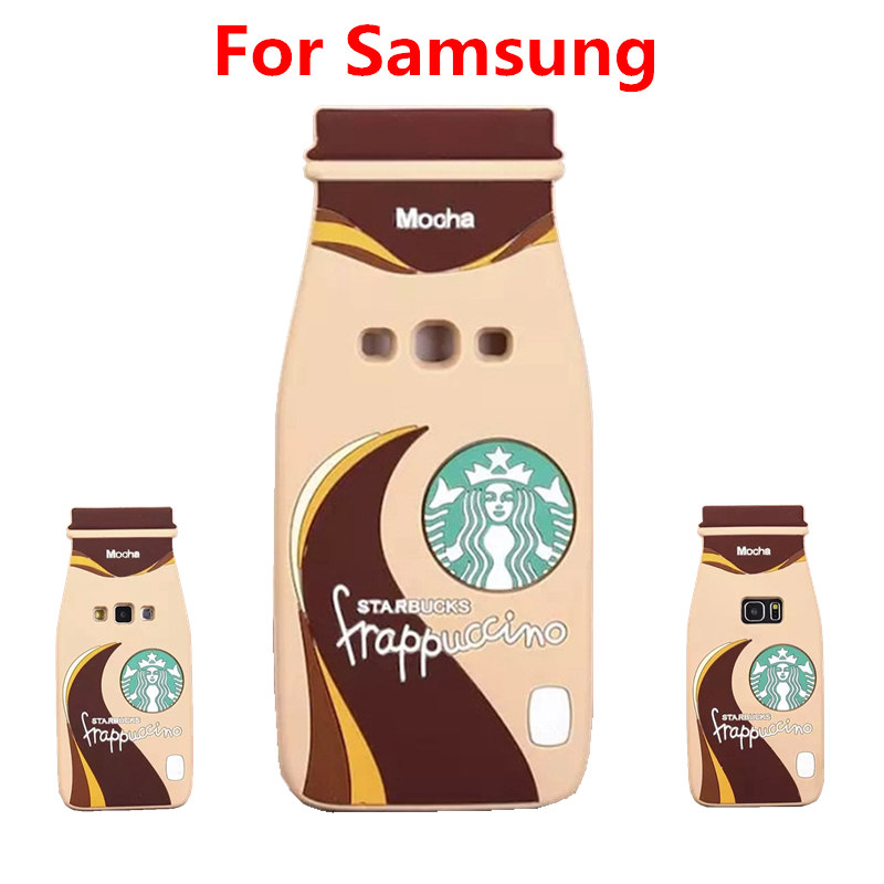 3D Cartoon Starbuck Bottle Silicone Soft Back Cover Case For iPhone 4S 5S 6 6S Plus For Samsung Galaxy S3 S4 S5 S6 edge Note 4 5