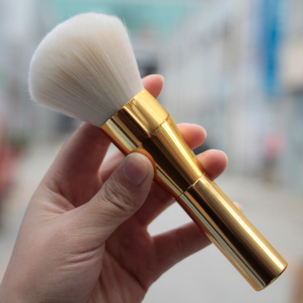 Hot Gold Powder Blush Brush Professional Large Cosmetics Makeup Brushes Foundation Maquiagem Make Up Tool maquiagem professional foundation makeup brush wooden soft hair round powder blush make up brushes cosmetic tool high quality