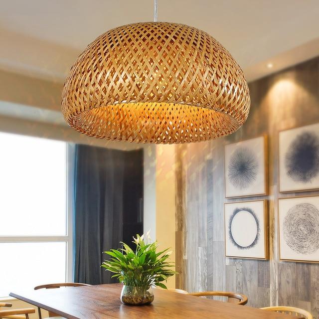 Bambus Kronleuchter Sudost Lampe Asiatischen Garten Restaurant Cafe