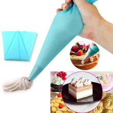 Dropshipping 3Size Silicone Reusable Icing Piping Cream Pastry Bag DIY