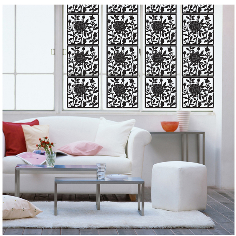 Rose PP plastic hanging screen Fashion partition wall stickers The sitting room screen hanging screen room divider screen room