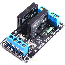 5pcs 2 Channel 5V DC Relay Module Solid State High Level SSR AVR DSP for Arduino