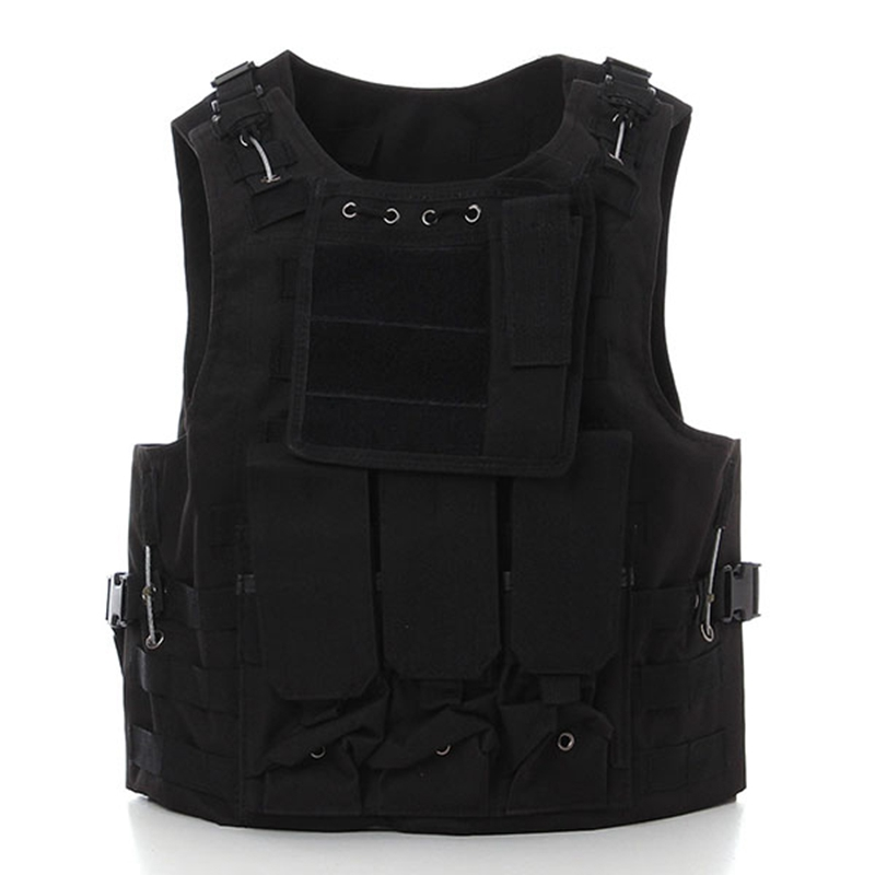 New Nylon Camouflage Tactical Molle Vest Military Army Airsoft Combat Assault Molle Plate Carrier Vests Hunting Game Clothing