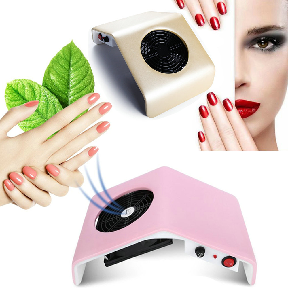 Nail Dust Suction Collector Vacuum Cleaner for Manicure Nail Art Tools Nail Suction Tips Dust Cleaner with Dust Collecting Bags-in Nail Art Equipment from Beauty & Health