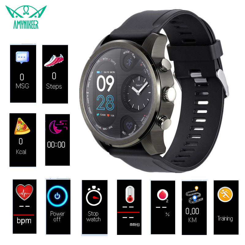 AMYNIKEER T3 smart watch multi function sports watch fitness tracker support WhatsApp Twitter Facebook Skype information