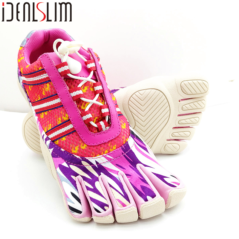 IDEALSLIM Cinq Doigt Yoga Chaussures Femmes Marchant Course 5 Orteils Chaussures De Yoga pour en plein air À Bascule Chaussures