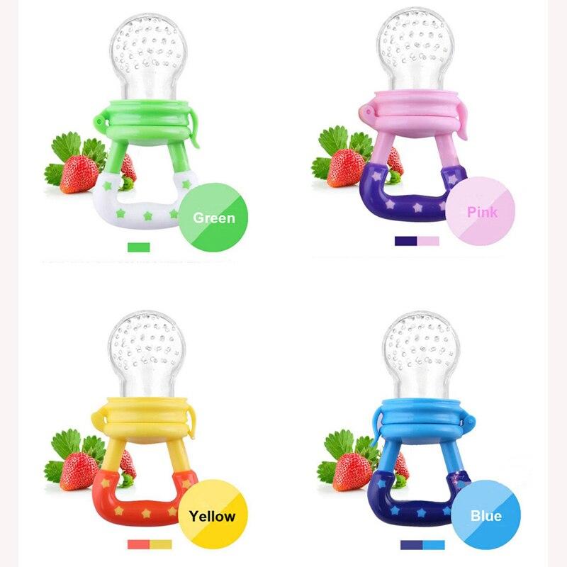 10 Pcs font b Baby b font Pacifier Fresh Food Milk Nibbler Feeder Kids Nipple Feeding