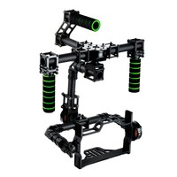 3 axis DSLR Brushless Gimbal Glass Fiber Handle Camera Mount DSLR 5D GH3 with motor for FPV Photography(With the motor)
