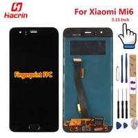 Xiaomi Mi 6 Mi6 LCD Display +Touch Screen+Finger Print FPC Digitizer Screen Glass Panel Assembly Replacement For Xiaomi MI6 MI 6