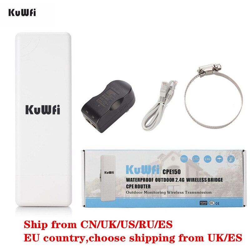 Routeur WIFI sans fil CPE 2.4G 150 Mbps Point d'accès AP routeur répéteur WIFI Extender WIFI Support de pont WIFI extérieur WDS 2 KM